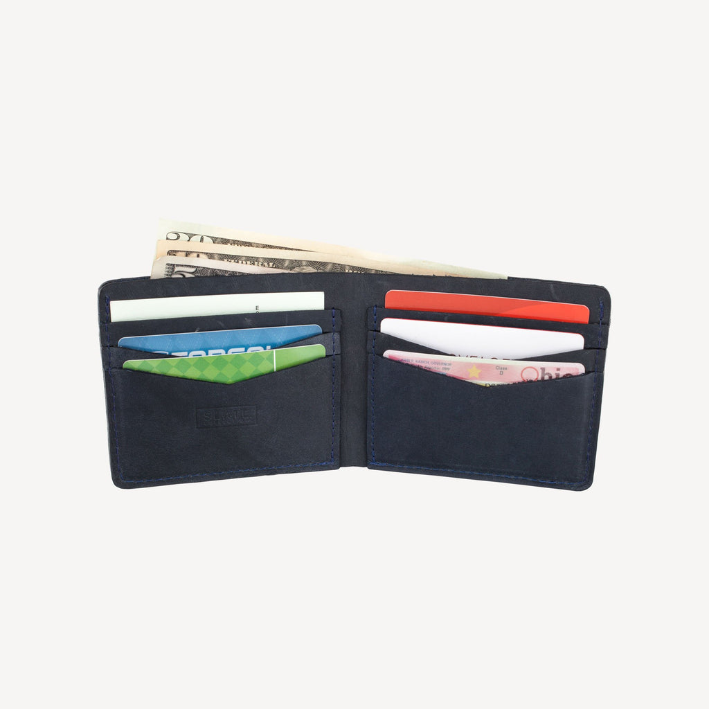 The DELRIDGE™ Bi-fold Wallet - Indigo
