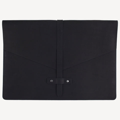 A front view of The BELLTOWN™ Laptop Sleeve - Black