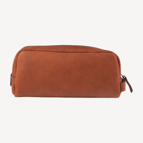 front view of The GREENWOOD™ Dopp Kit - Tan