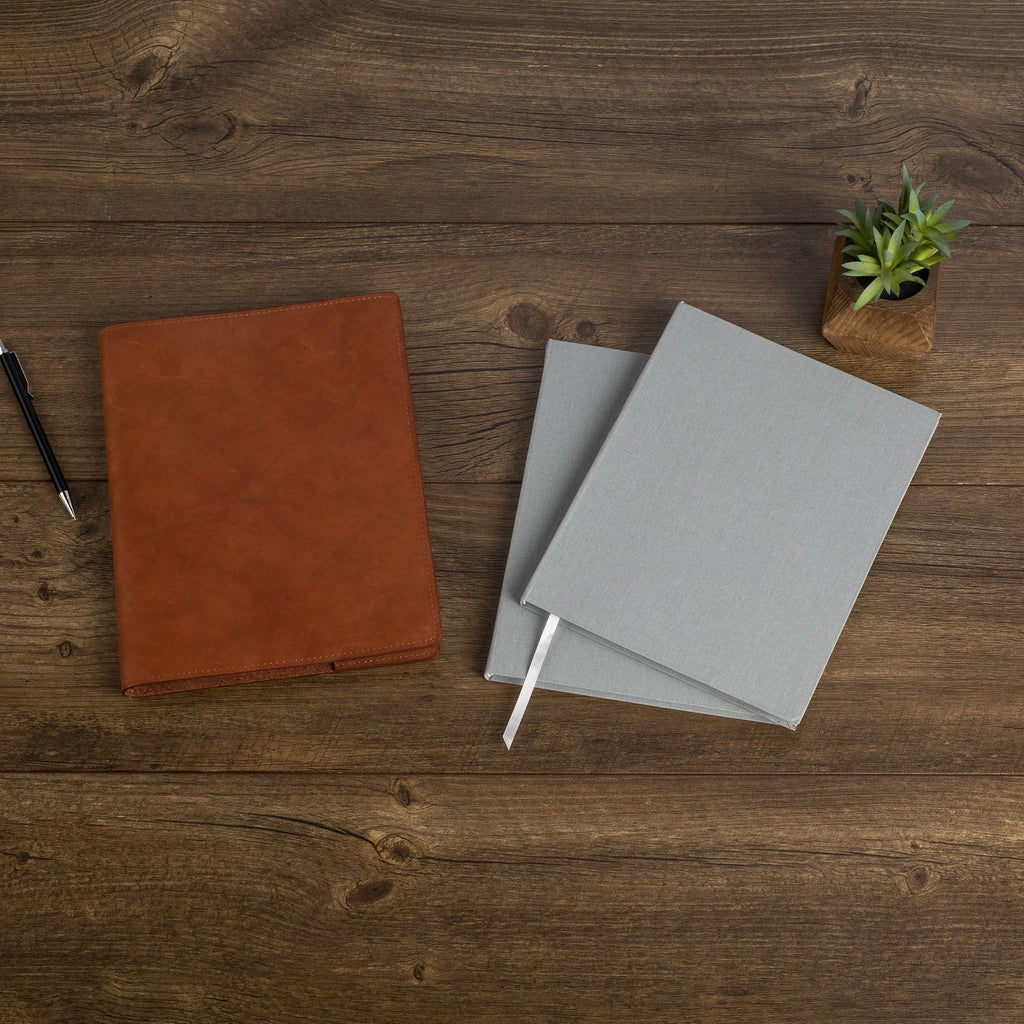The MERCER™ Refillable Journal Bundle - Small - Cognac
