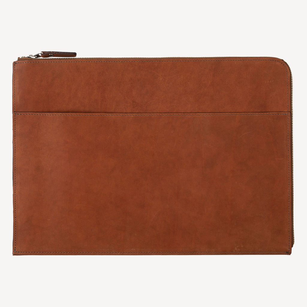 The FREMONT™ Zip-Around Pouch - Large - Cognac