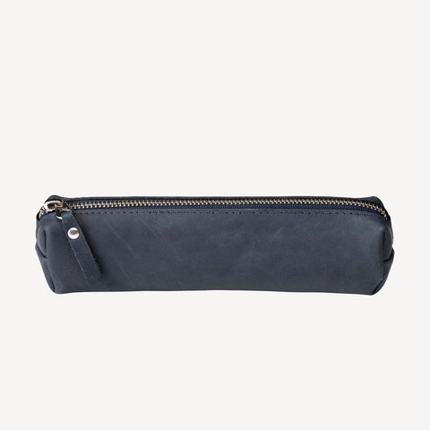 A front view of The FREMONT™ Pencil Pouch - Blue