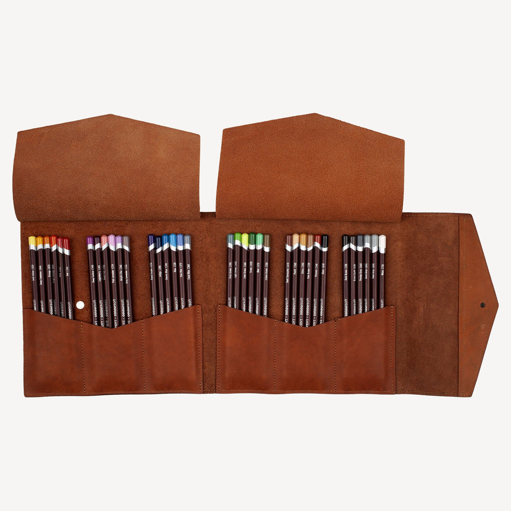 The VERNON™ Pencil Carrier - Cognac