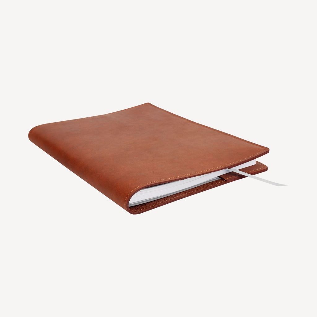 left-side view of The MERCER™ Refillable Journal - Small - Tan