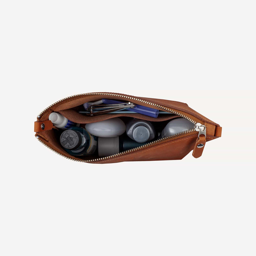 The DAWSON™ Accessory Pouch - Medium - Cognac