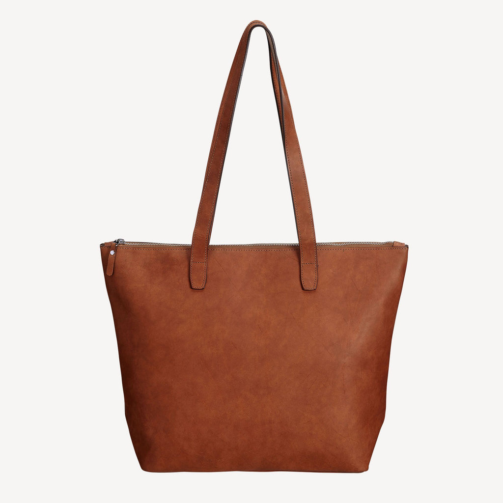 Front view of The BALLARD TOTE™ - Tan