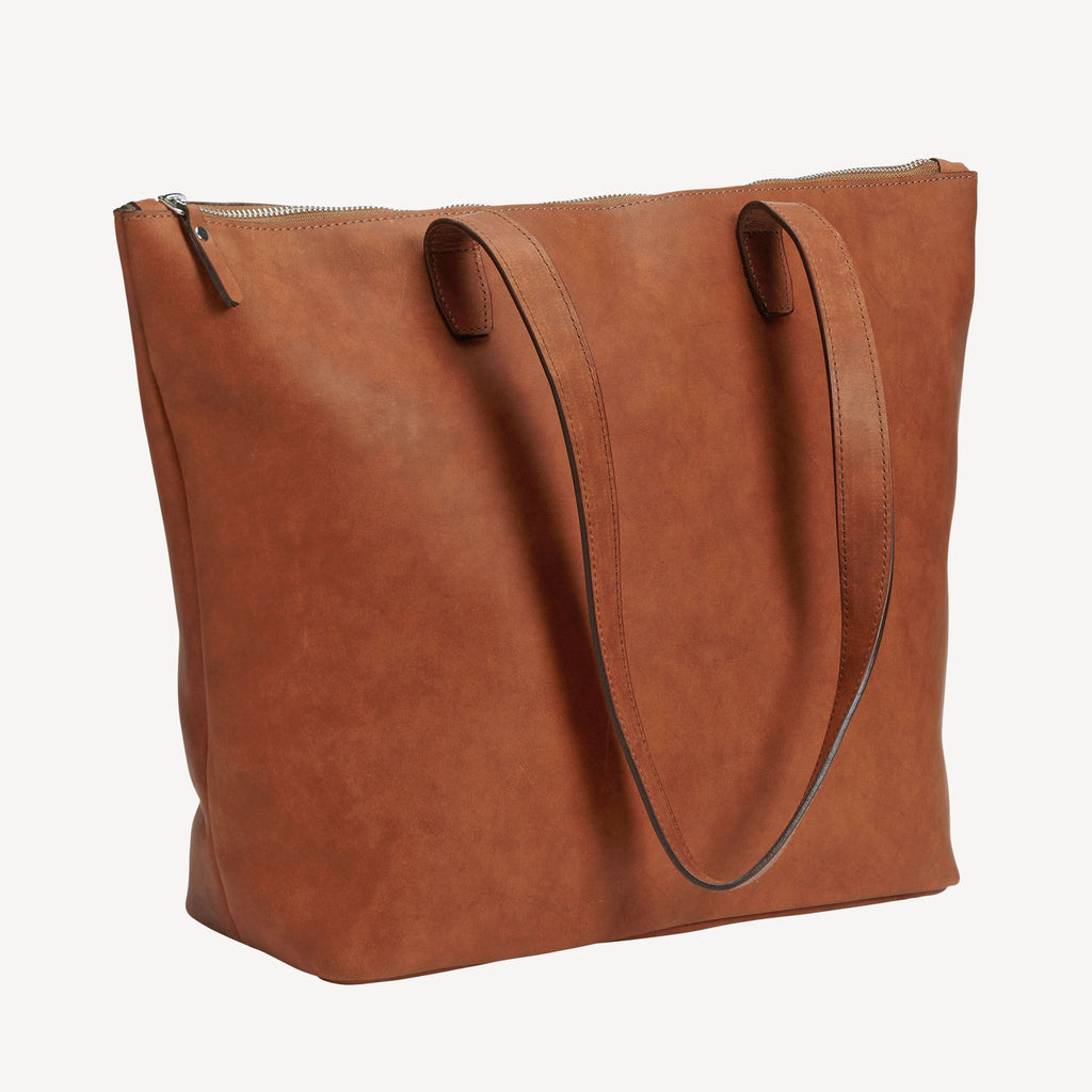 The BALLARD TOTE™ - Tan with the straps down