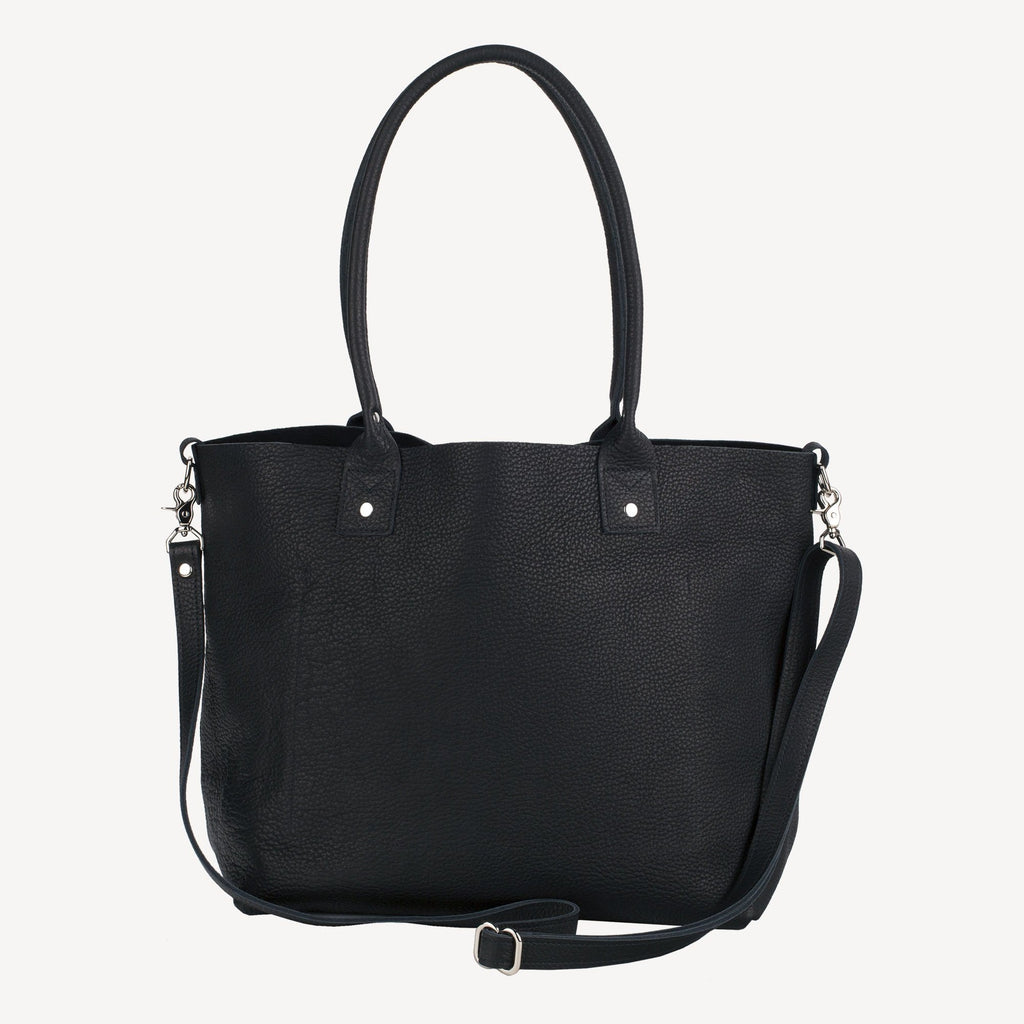 front view of The SUMNER™ Crossbody Tote - Pebbled Black