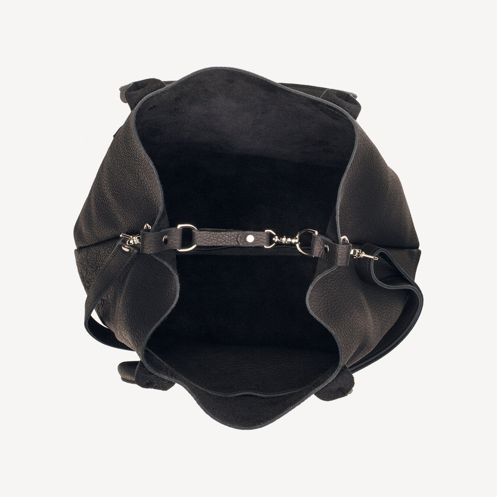 Aerial view of The SUMNER™ Crossbody Tote - Pebbled Black