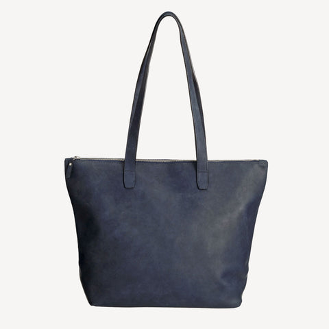 Front view of The BALLARD TOTE™ - Blue