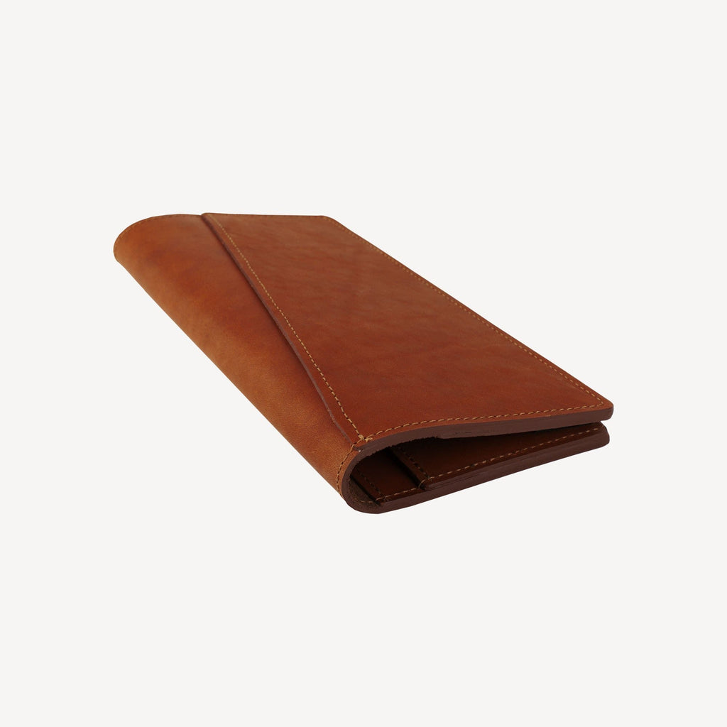 side view of The LAKEWAY™ Travel Wallet - Tan