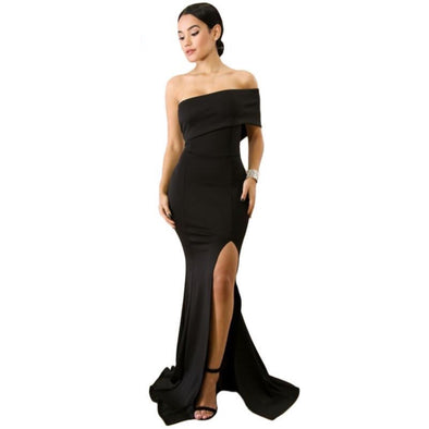 The ANUHEA One Sleeve Slit Maxi Dress