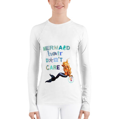 "'MERMAID HAIR DON'T CARE"" Women's Rash Guard"