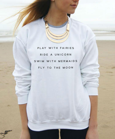 Swim With Mermaids Statement Sweatshirt