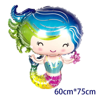 Lil' Mermaid Party helium gas foil balloons