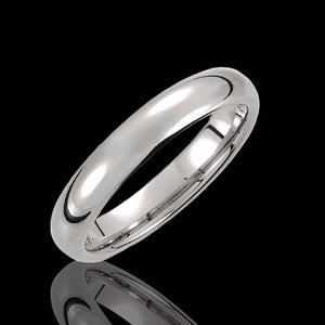4.3MM Traditional Half Round Tungsten Wedding Bands - 1WeddingBand.com