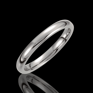3MM-10MM Traditional Half Round Titanium Wedding Bands - 1WeddingBand.com