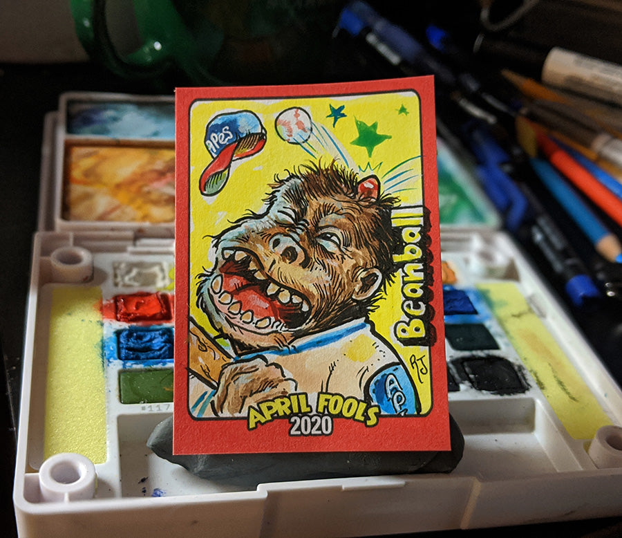 Topps Wacky Packages BeanBall Sketch Card