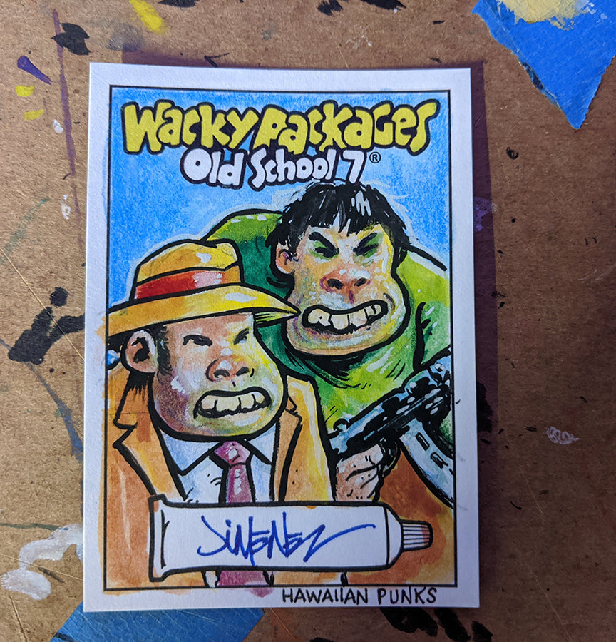 Topps Wacky Packages Old School 7 Hawaiian Punks Sketch Card