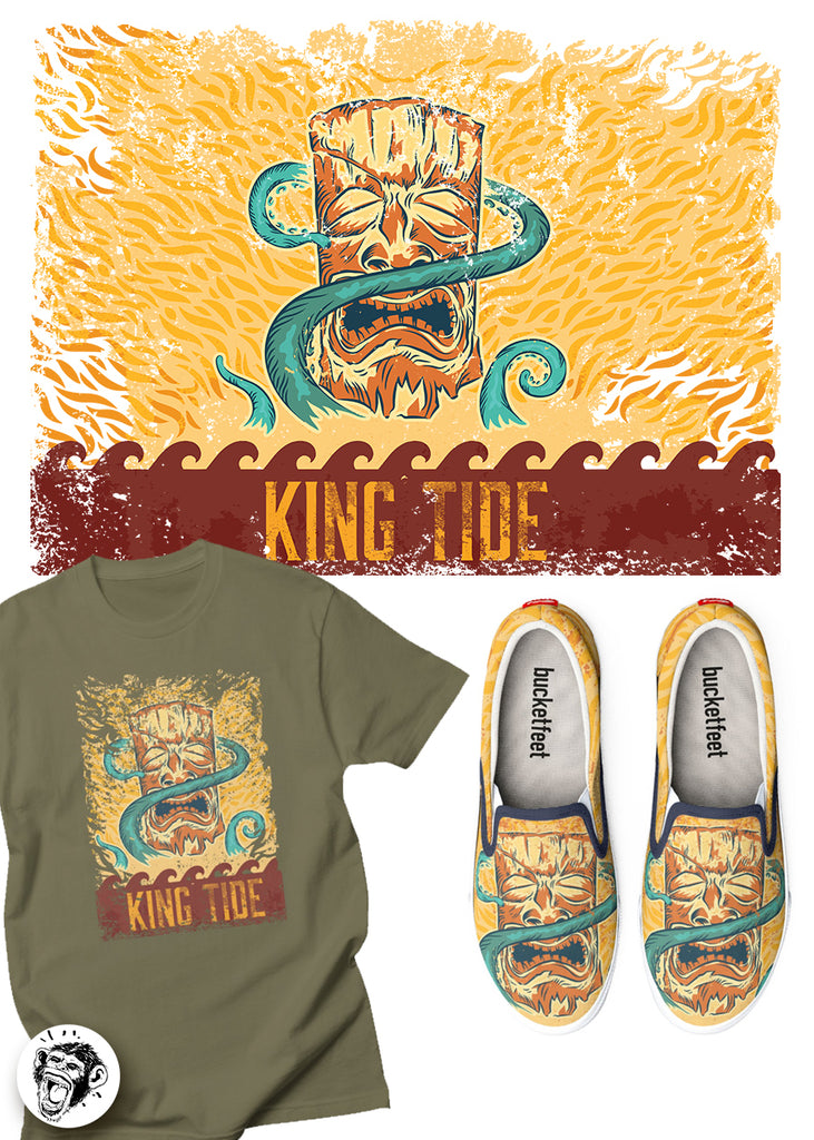KING TIDE! New Design At My Threadless Shop!