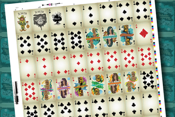 Tikilandia Playing Cards Proof – Uncut Sheet Pre-Order