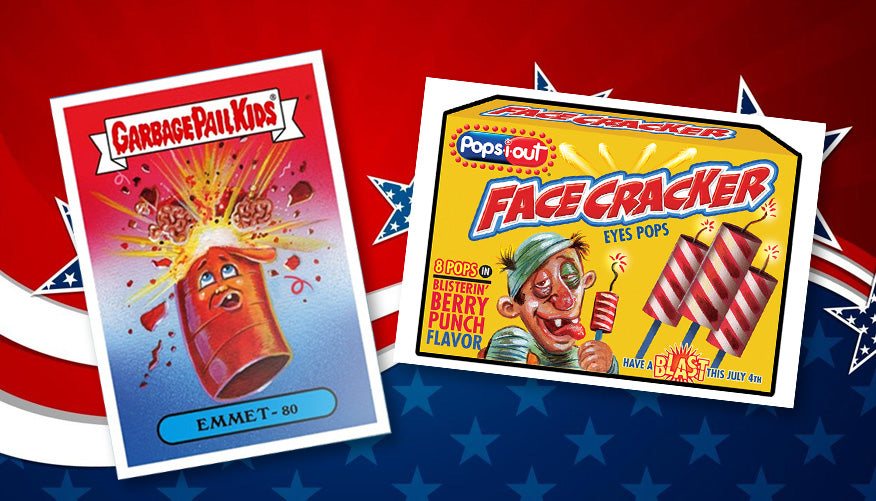 garbage pail kids gpk wacky packages july 4th