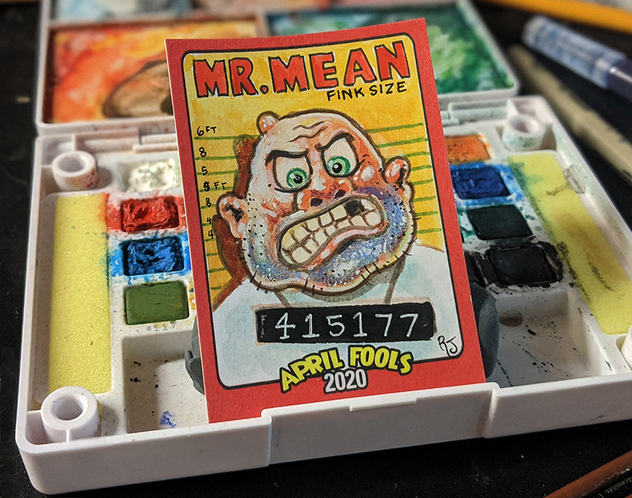 Mr. Mean Sketch Card - Topps Wacky Packages