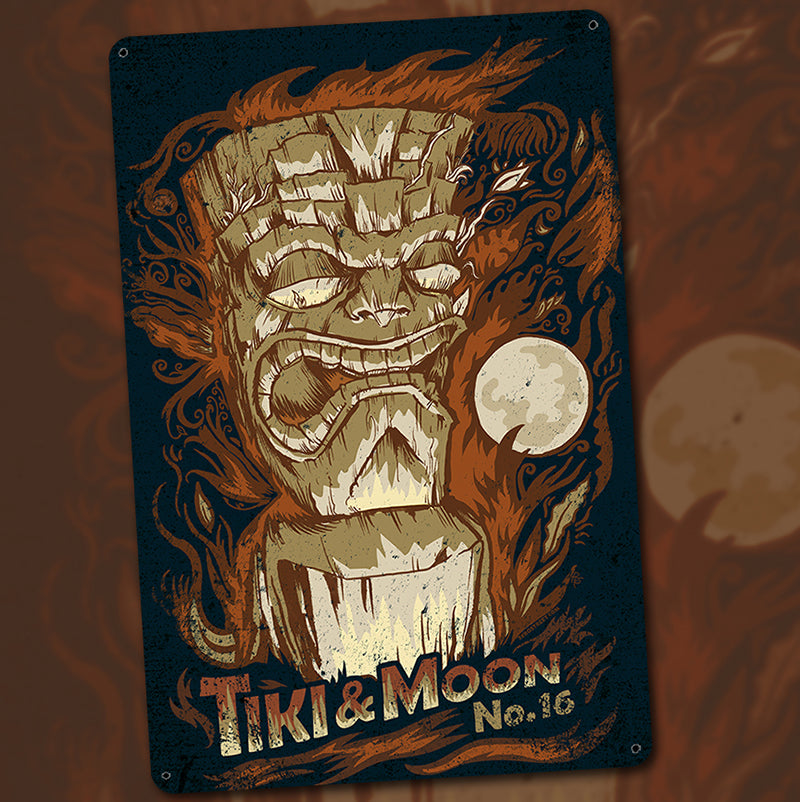 Tiki & Moon No. 16 - Metal Sign Coming Soon!