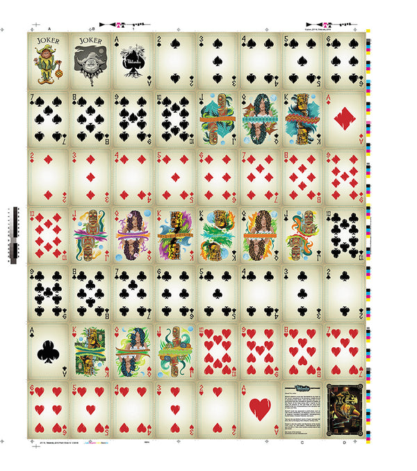 Tikilandia Playing Cards Uncut Sheet