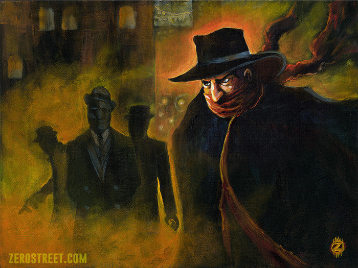 Painting of Lamon Cranston, The Shadow