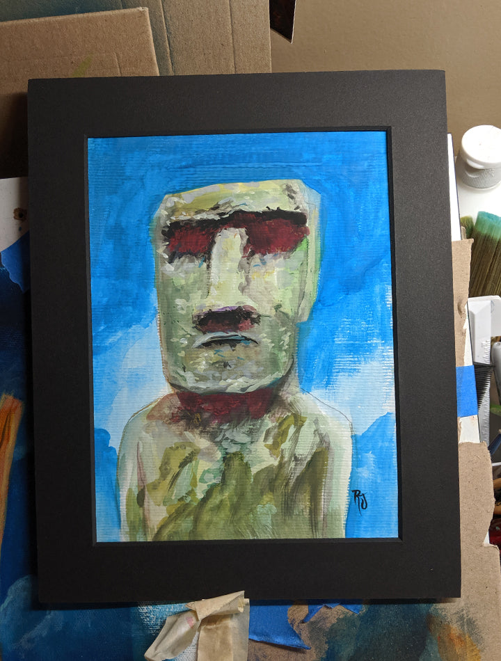 Untitled Moai - Original Art