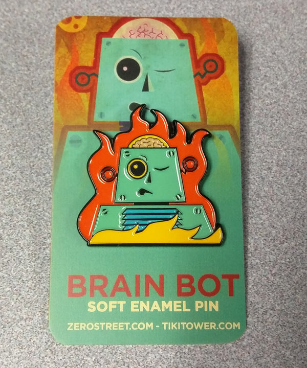 Brain Bot Soft Enamel Pin
