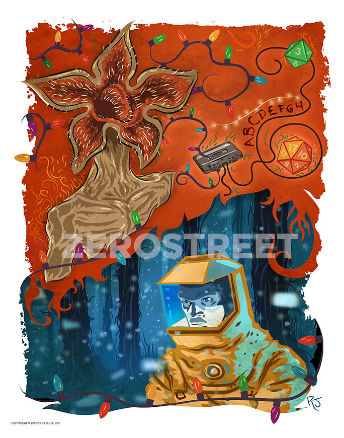 Stranger Things Netflix Print Visions From The Upside Down Artbook Demogorgon