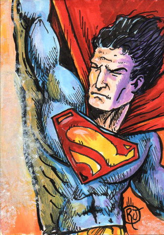 Superman Sketch Card