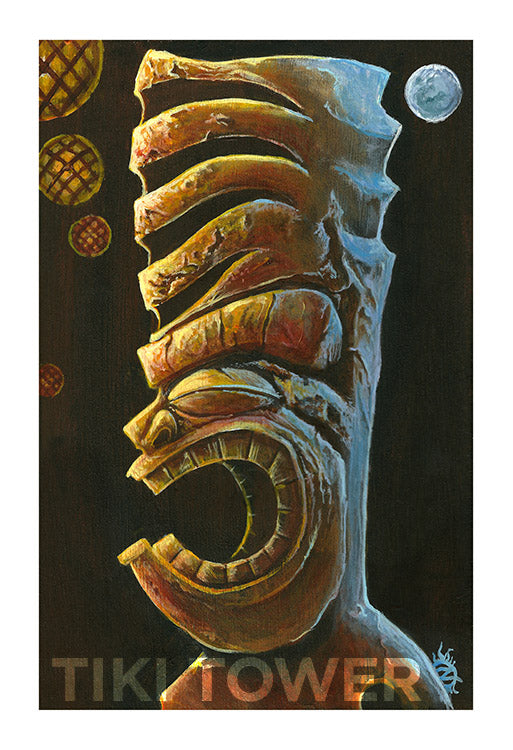 TIKI BY TWO LIGHTS Print