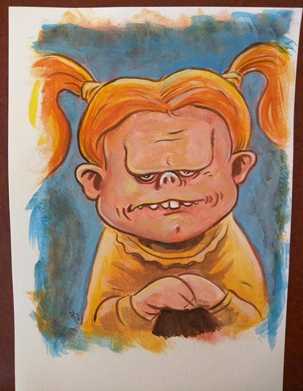 Weird-Ass Faces Original Art 2