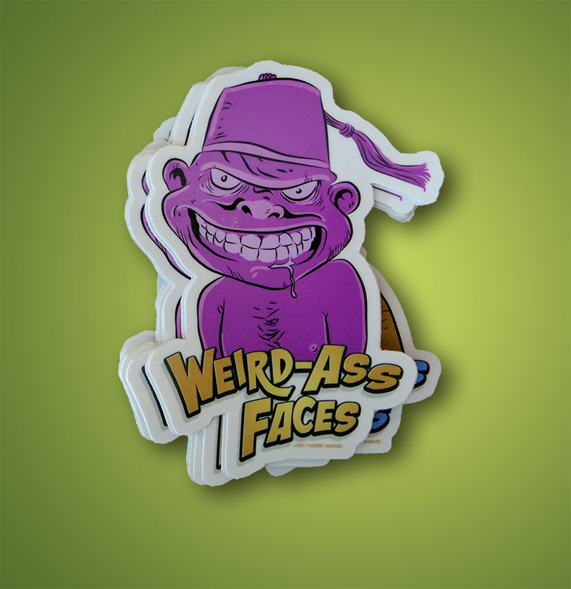 Weird-Ass Faces Sticker 4