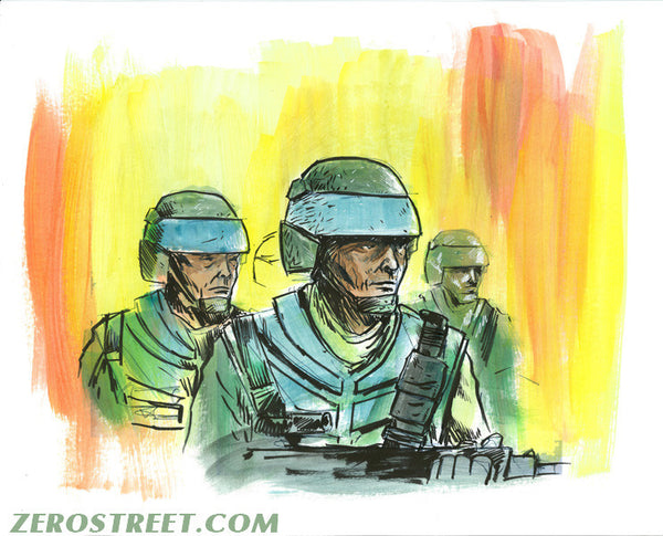 FIREFLY Alliance Soilders Upper Deck The Verse - Original Art
