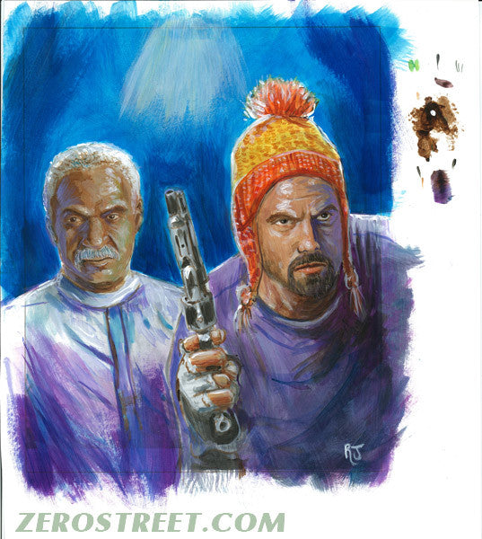 FIREFLY Jayne and Book Upper Deck The Verse - Original Art