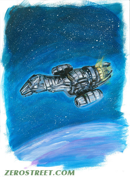 FIREFLY Serenity Ship Upper Deck The Verse - Original Art