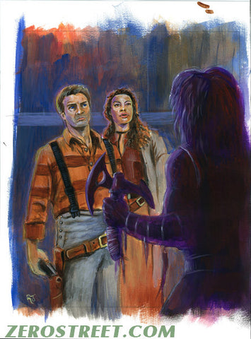 FIREFLY Malcolm Reynolds Zoe Upper Deck The Verse - Original Art