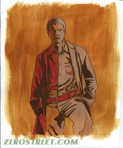 FIREFLY Malcolm Reynolds Browncoats Upper Deck The Verse - Original Art