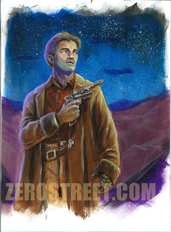 FIREFLY Browncoats Malcolm Reynolds Upper Deck The Verse - Original Art