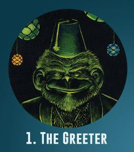 THE GREETER PAPER COASTERS SET OF 4