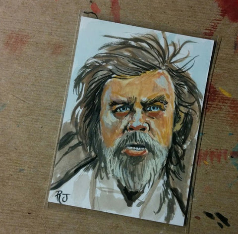 Luke Skywalker The Force Awakens Sketch Card