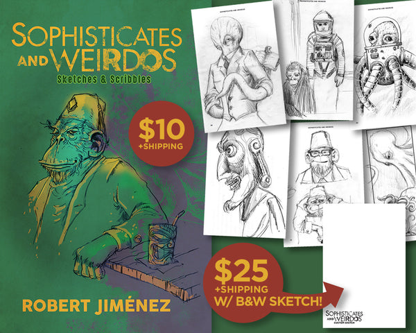Sophisticates And Weirdos Sketch Book