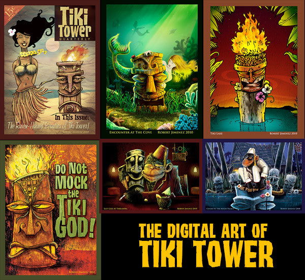 THE ART OF TIKI TOWER Mini Print Sets