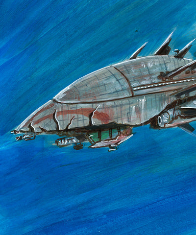 FIREFLY Reaver Ship Upper Deck The Verse - Original Art