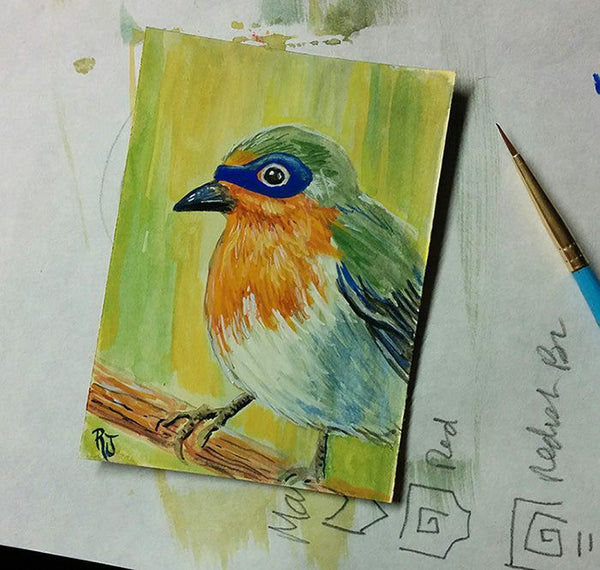 Robin Sketch Card