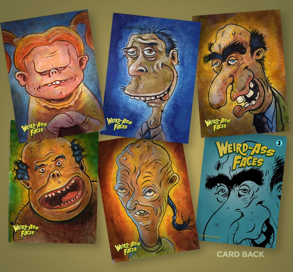 Weird-Ass Faces Trading Card Set (Set of 5)